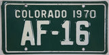 1970 Colorado Motorcycle License Plate
