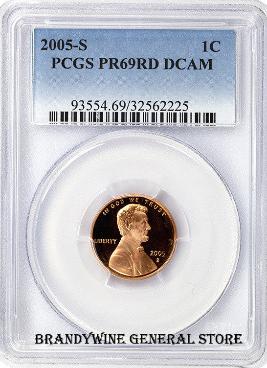 2005-S Lincoln Cent PCGS Proof 69 Red Deep Cameo