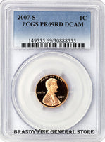 2007-S Lincoln Cent PCGS Proof 69 Red Deep Cameo