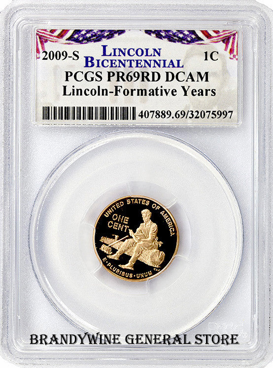 2009-S Lincoln Cent Formative Years PCGS Proof 69 Red Deep Cameo