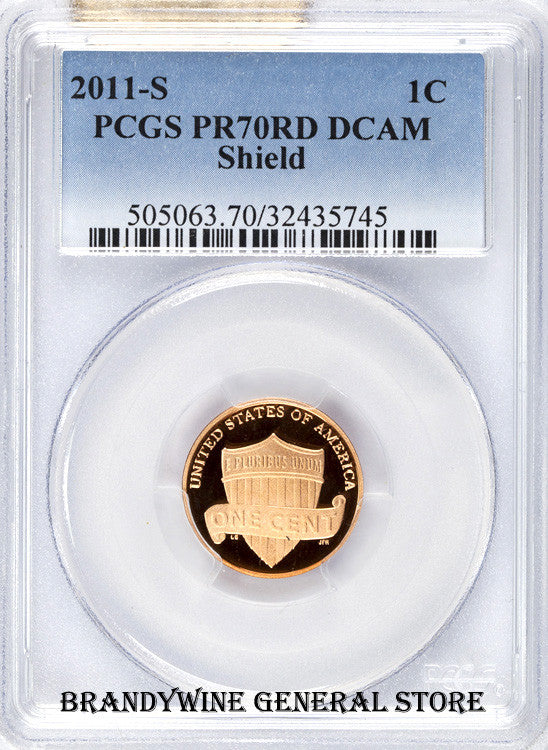 2011-S Lincoln Cent PCGS Proof 70 Red Deep Cameo