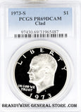 1973-S Eisenhower Dollar PCGS Proof 69 Deep Cameo