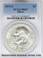 1976-S Eisenhower Silver Dollar PCGS Mint State 67