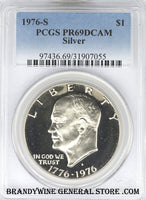 1976-S Silver Eisenhower Dollar PCGS Proof 69 Deep Cameo