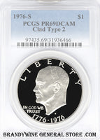 1976-S Type 2 Eisenhower Dollar PCGS Proof 69 Deep Cameo