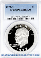 1977-S Eisenhower Dollar PCGS Proof 69 Deep Cameo