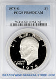 1978-S Eisenhower Dollar PCGS Proof 69 Deep Cameo