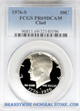 1976-S Kennedy Half Dollar certified by PCGS at Proof 69 Deep Cameo