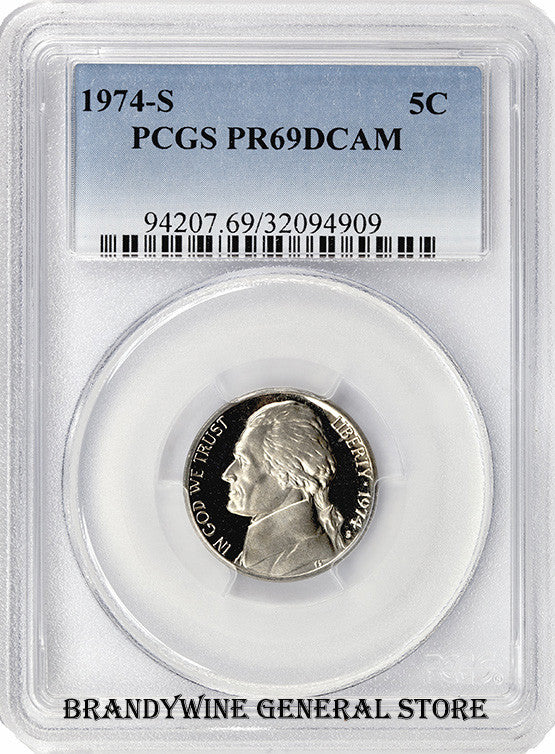 1974-S Jefferson Nickel PCGS Proof 69 Deep Cameo