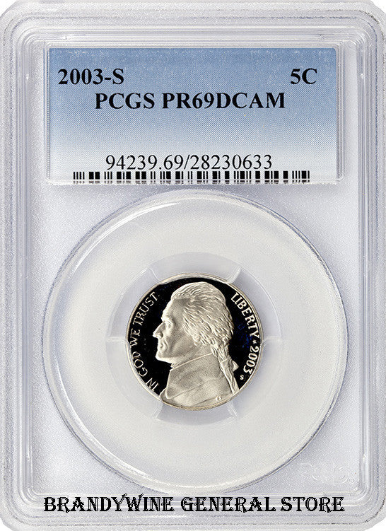 2003-S Jefferson Nickel PCGS Proof 69 Deep Cameo
