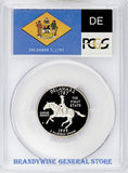 1999-S Delaware Statehood Quarter certified by PCGS at Proof 69 Deep Cameo