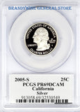 2005-S California Silver Statehood Quarter PCGS Proof 69 Deep Cameo
