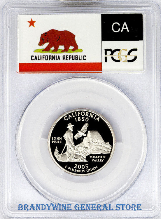 2005-S California Statehood Quarter PCGS Proof 70 Deep Cameo