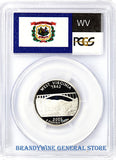 2005-S West Virginia Silver Quarter PCGS Proof 70 Deep Cameo