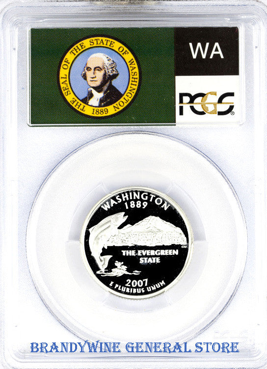 2007-S Washington Silver Quarter PCGS Proof 69 Deep Cameo