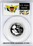 2009-S Virgin Islands Silver Quarter PCGS Proof 69 Deep Cameo