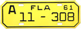 1961 Florida Motorcycle License Plate