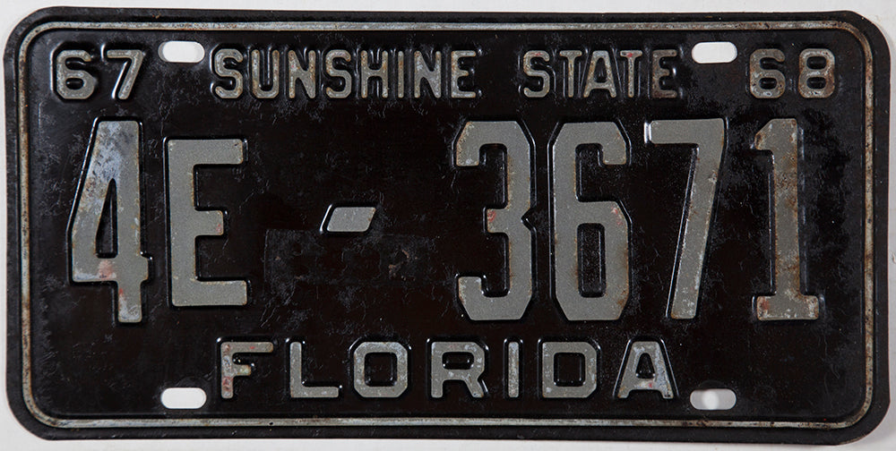 1967 - 68 Florida Limousine or Bus License Plate