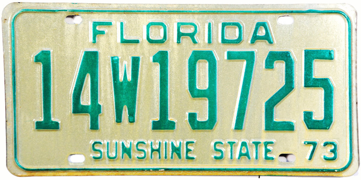 1961 Florida Truck License Plate Excellent Condition