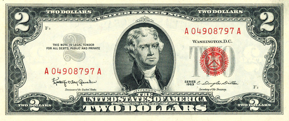 Fr 1513 Two Dollar Legal Tender Note Series 1963