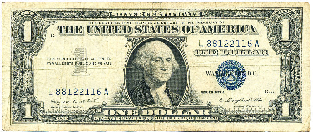 Fr 1620 One Dollar Silver Certificate Series 1957A