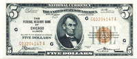 Fr 1850-G Five Dollar 1929 Federal Reserve Bank Note