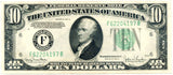 Fr 2009-F Ten Dollar Federal Reserve Note Series 1934D AU
