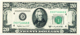 Fr 2062-D Federal Reserve Note Twenty Dollars 1950C PMG 64