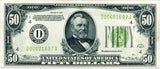 Fr 2102-D Fifty Dollar Federal Reserve Note 1934 PMG 62