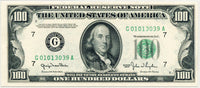 Fr 2157-G One Hundred Federal Reserve Note 1950 PMG 63