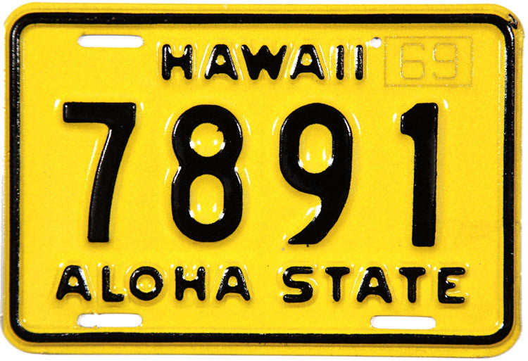 1969 Hawaii Motorcycle License Plate