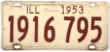 1953  Illinois License Plates in very good condition
