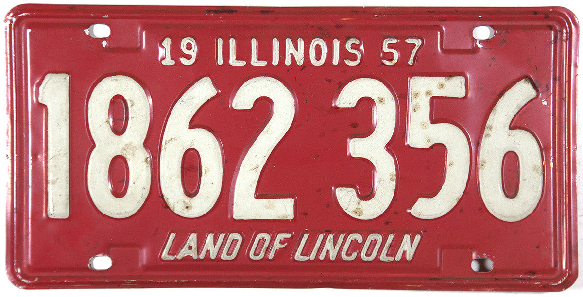 1957 Illinois License Plate