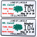 1994 Illinois Mt. Carroll Mayfest License Plates