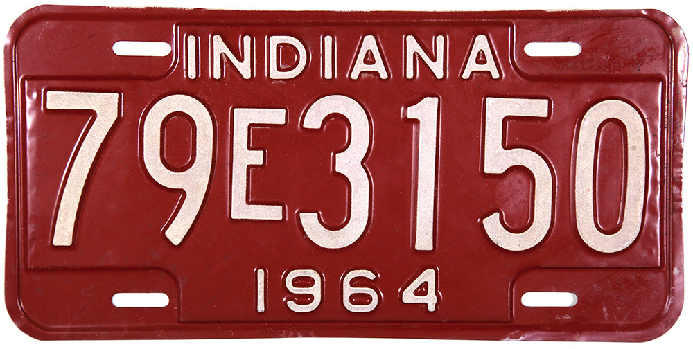1964 Indiana License Plate Tippecanoe County 79 Excellent Minus