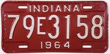 1964 Indiana License Plate Tippecanoe County 79 Very Good Plus