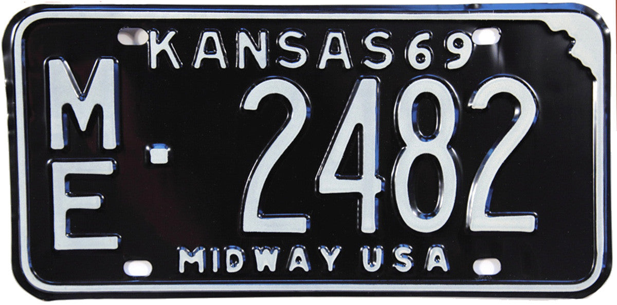 1969 Kansas License Plate in Excellent Plus condition
