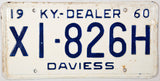 1960 Kentucky Dealer License Plate