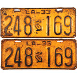 1933 Louisiana License Plates