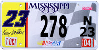 2004 Mississippi Kenny Wallace Nascar License Plate