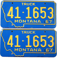 1967 Montana Truck License Plates