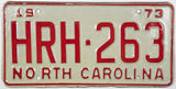 1973 North Carolina License Plate