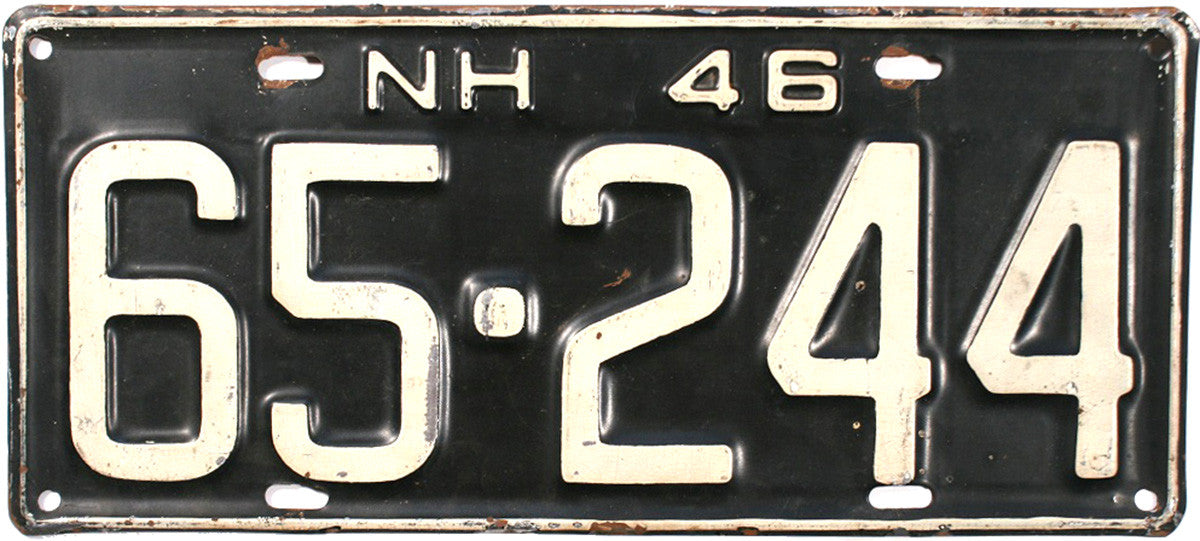 1946 New Hampshire License Plate