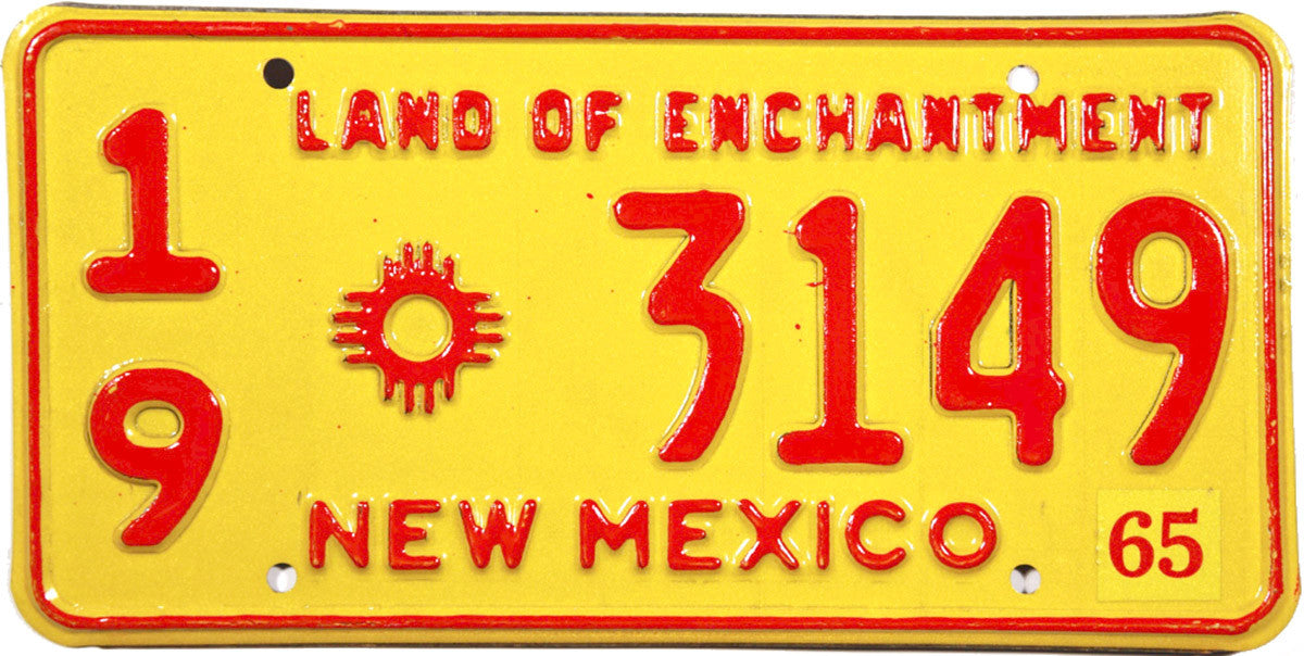 1965 New Mexico License Plate