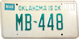 1981 Oklahoma License Plate