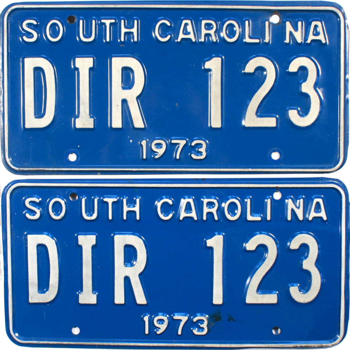 1973 South Carolina License Plates