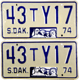 1974 South Dakota Truck License Plates