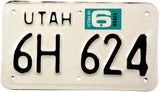 1981 Utah Motorcycle License Plate