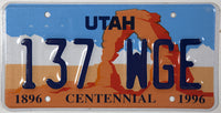 1996 Utah Centennial License Plates NOS Excellent Plus condition