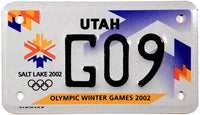 2002 Utah Olympic Motorcycle License Plate